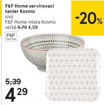 F&F Home servírovací tanier Kosmo