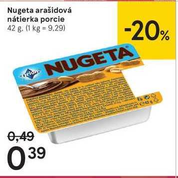 Nugeta arašidová nátierka porcie, 42 g