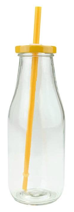 Fľaša na smoothie oranžová 230ml 1ks