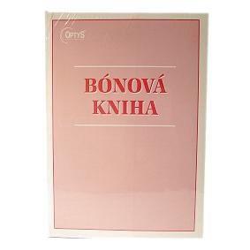 Kniha bónová 3ks