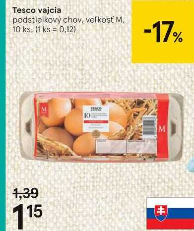 Tesco vajcia, 10 ks