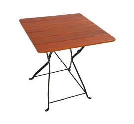 Záhradný stôl Jasan 70x70cm Arnika 1ks