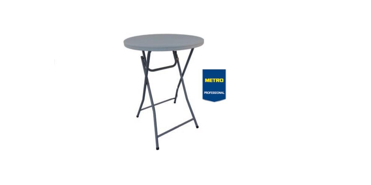 Stôl banketový okrúhly plastový 81,3x110cm Metro Professional 1ks