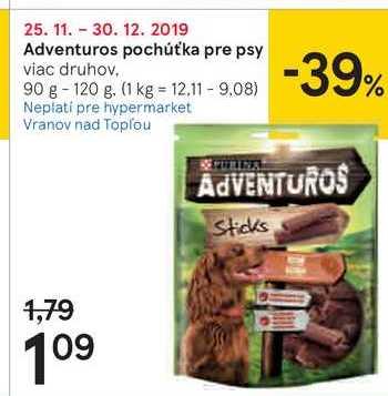 Adventuros pochút'ka pre psy, 90 - 120 g