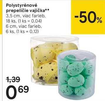 Polystyrénové prepeličie vajíčka