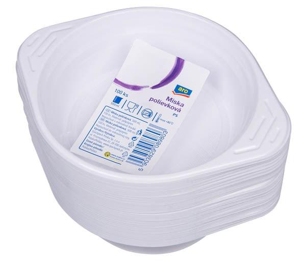 Miska polievková plast 500ml ARO 100ks