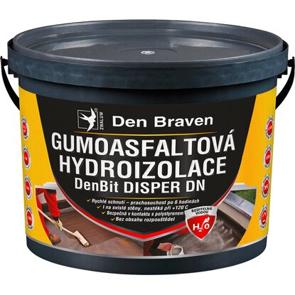 Den Braven Gumoasfaltová hydroizolácia DenBit DISPER DN 10 kg