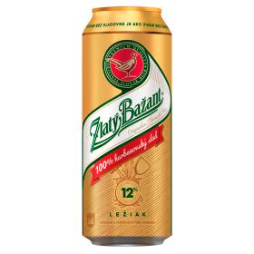 Zlatý Bažant 12 % pivo svetlý ležiak 500 ml plechovka