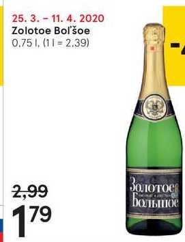 Zolotoe Boľšoe, 0,75 l