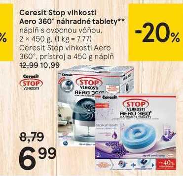Ceresit Stop vlhkosti Aero 360 náhradné tablety