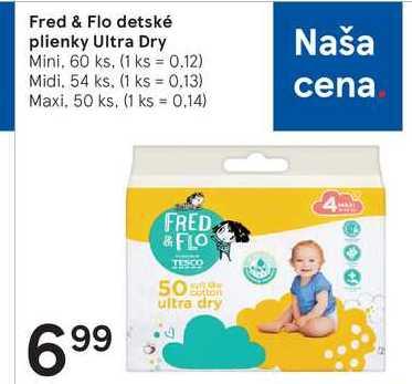 Fred & Flo detské plienky Ultra Dry