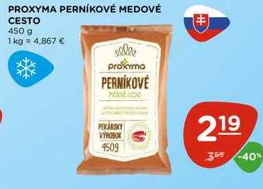 PROXYMA PERNÍKOVÉ MEDOVÉ CESTO 450 g