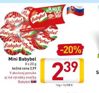 Babybel Mini 8x20 g