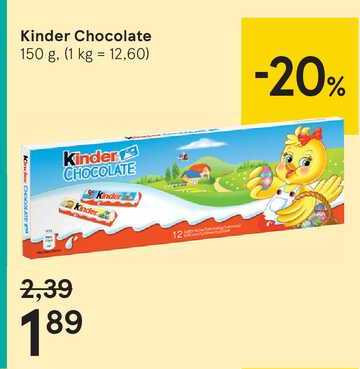 Kinder Chocolate, 150 g