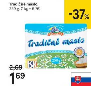 Tradičné maslo, 250 g