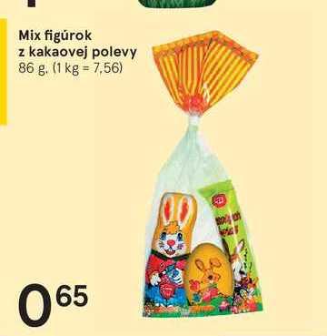 Mix figúrok z kakaovej polevy, 86 g