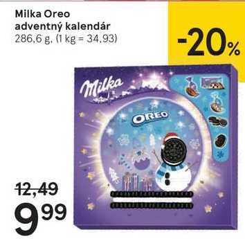 Milka Oreo adventný kalendár, 286,6 g