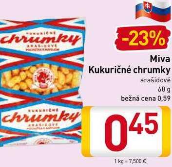 Miva Kukuričné chrumky  60 g