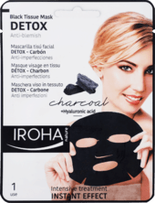 Textilná pleťová maska Detox s aktívnym uhlím, 23 ml