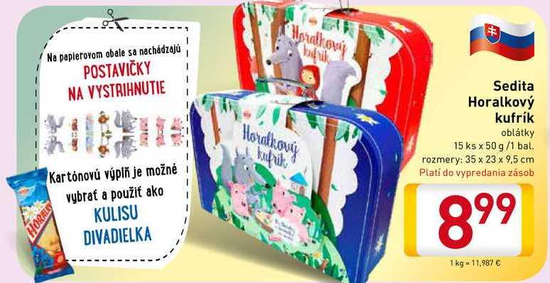 Sedita Horalkový kufrík  15 ks/1 bal.