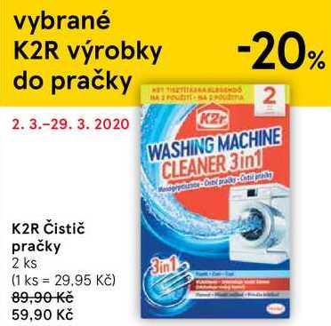 K2R Čistič pračky, 2 ks