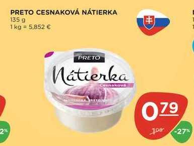 PRETO CESNAKOVÁ NÁTIERKA 135 g