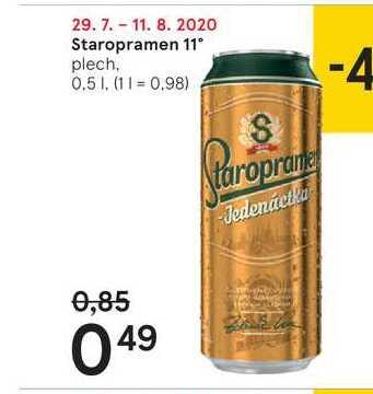 Staropramen 11 %, 0,5 l
