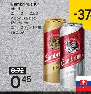 Gambris 10 %, 0,5 l