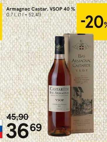 Armagnac Castar. VSOP, 0,7 l