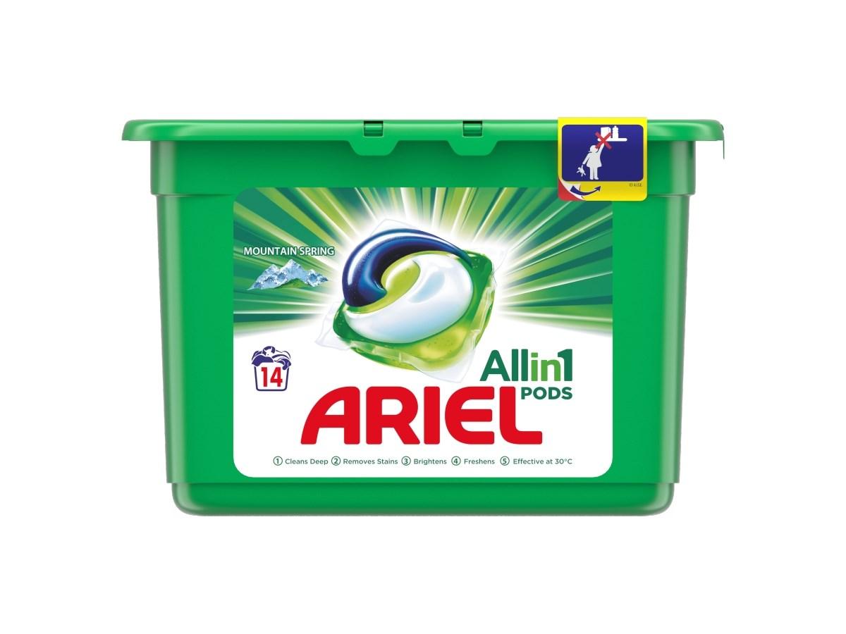 Ariel Mountain Spring gélové kapsuly 1x14 ks