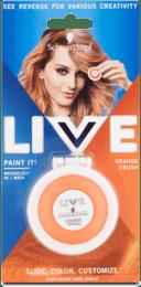Zmývateľná krieda na vlasy Live Paint It! pomarančová smoothie, 1 ks