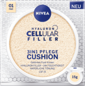 Ošetrujúci make-up 3v1 v hubke Hyaluron Cellular Filler, 01, 15 g