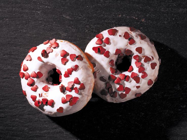 Donut s trblietavými srdiečkami