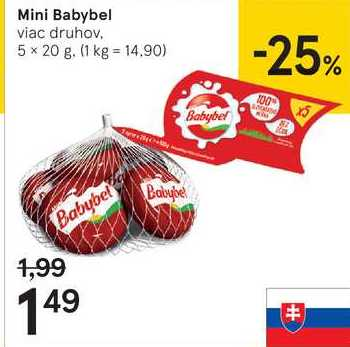 Babybel Mini, 5 x 20 g
