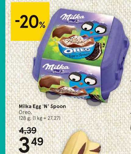 Milka Egg 'n' Spoon, 128 g
