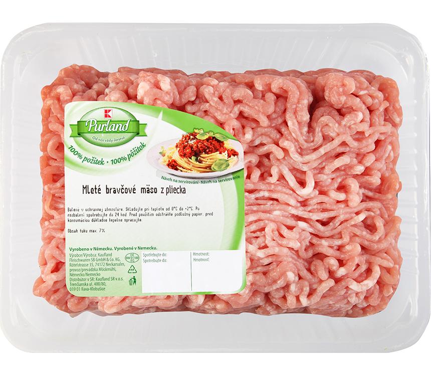 Mleté bravčové mäso