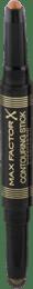 Očné tiene v ceruzke Contouring Stick, 005 Bronze Moon & Forest Green, 1 ks