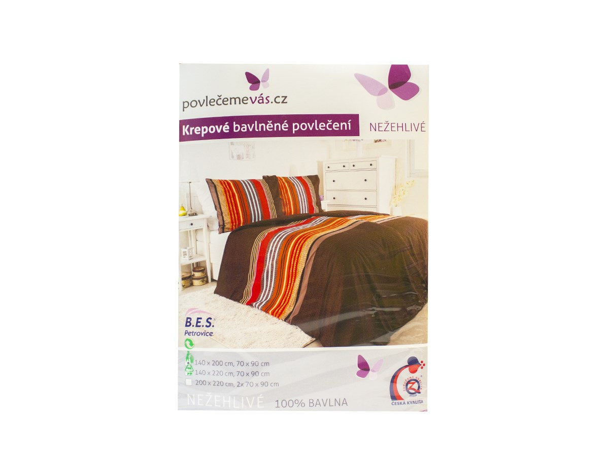 Obliečka bavlna krepová úprava Santiago 1ks