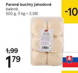 Parené buchty jahodové, 500 g