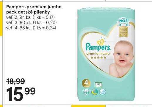 Pampers premium jumbo pack detské plienky