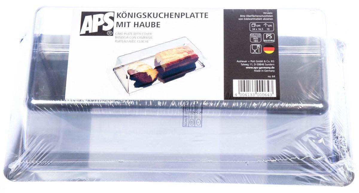 Podnos s poklopom 34x16x10cm APS 1ks