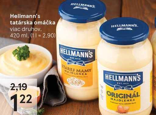 Hellmann's tatárska omáčka, 420 ml