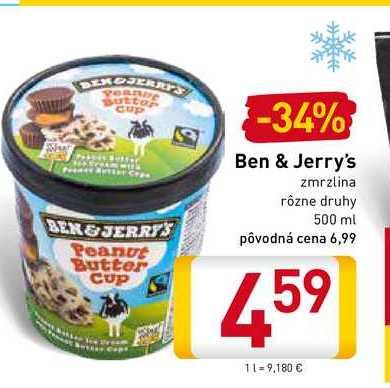 Ben & Jerry's  zmrzlina  500 ml
