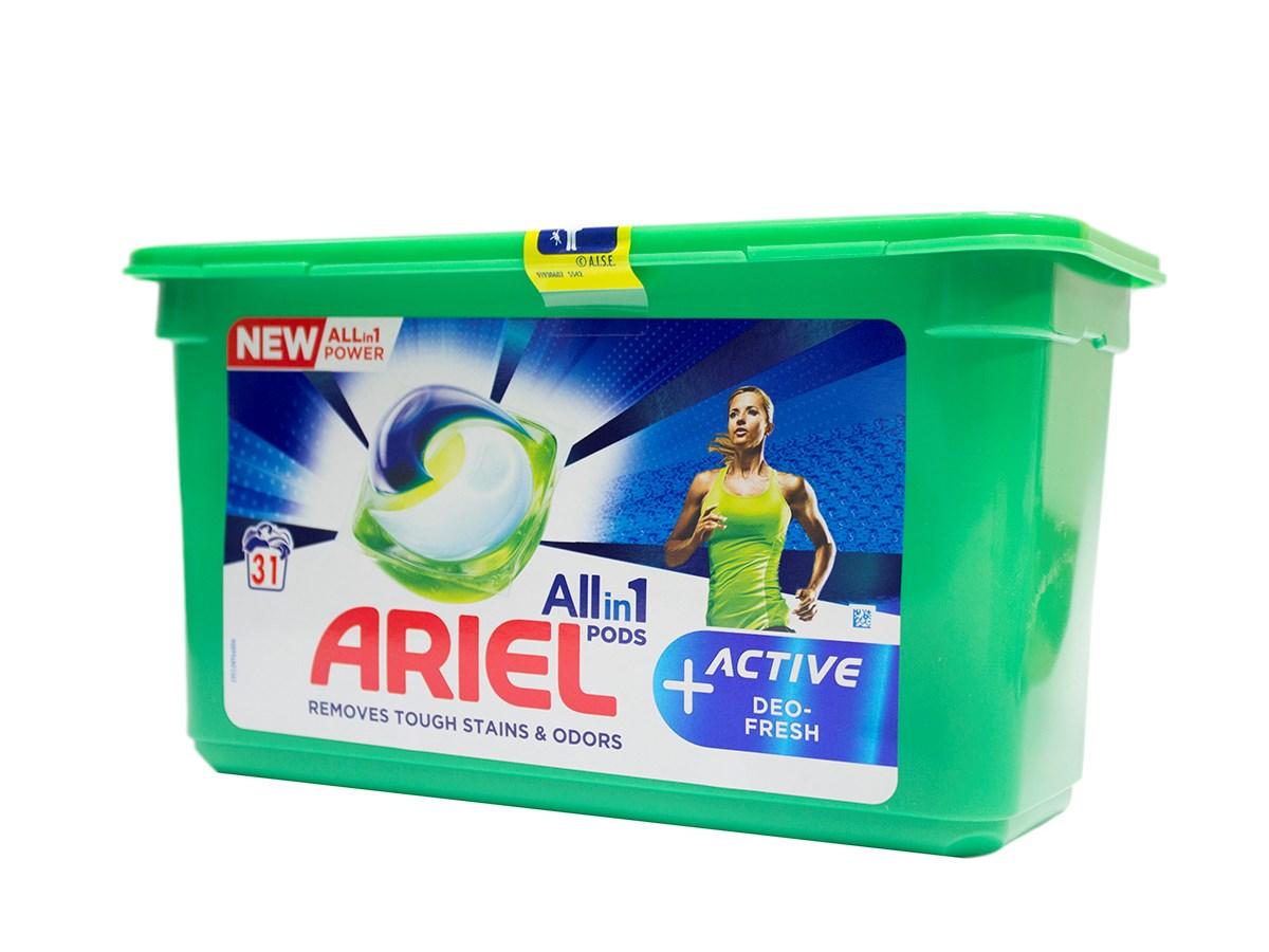 Ariel Active Deo Fresh gélové kapsuly 1x31 ks