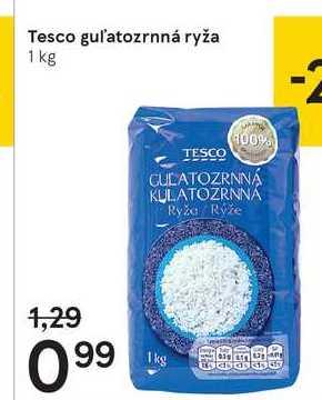 Tesco gul'atozrnná ryža, 1 kg