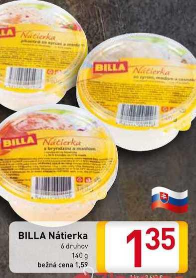 BILLA Nátierka 140 g