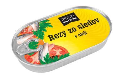 Rezy zo sleďov v oleji 170 g