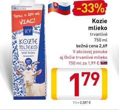 Kozie mlieko 750 ml