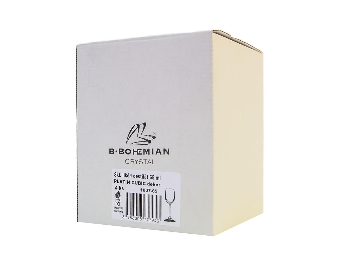 Poháre na likér/destilát Cubic Port 65 ml B.Bohemian 4ks