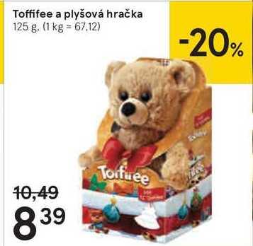 Toffífee a plyšová hračka, 125 g